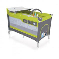 Patut pliabil Dream 120 x 60 cm Green Baby Design - Patut pliant bebelusi Baby Design, Verde