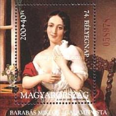 Ungaria 2001 - pictura Barabas M, colita neuzata