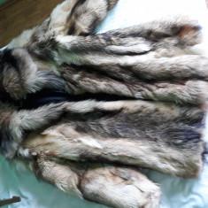 Haină blană naturală lungă - haina de blana
