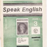 SPEAK ENGLISH NR 3/1990 - REVISTA PT INVATAREA LIMBII ENGLEZE - Revista scolara