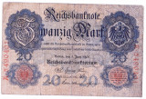 Germania bancnota RARA 20 MARK MARCI 1907