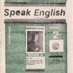 SPEAK ENGLISH NR 2/1990 - REVISTA PT INVATAREA LIMBII ENGLEZE - Revista scolara