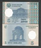 TADJIKISTAN  5 DIRAMS 1999   UNC  [1] P-11a  ,   necirculata