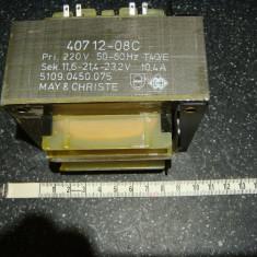 Transformator electric de retea 12v/24v 250W (11.6-21.4-23.2v)
