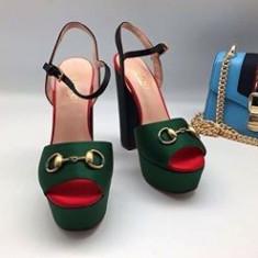 Vand sandale Gucci - Sandale dama Gucci, Culoare: Verde, Marime: 39