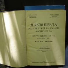 JURISPRUDENTA INALTEI CURTI DE CASATIE 1934-1943 - COMAN NEGOESCU - Carte Jurisprudenta