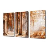 Tablou Multicanvas 3 Piese Covor rosu - Tablou canvas