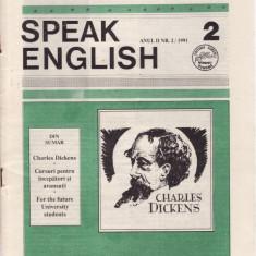 SPEAK ENGLISH NR 2/1991 - REVISTA PT INVATAREA LIMBII ENGLEZE - Revista scolara