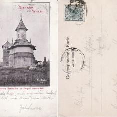 Biserica Mireuti Suceava - (Bucovina)-clasica, rara - Carte Postala Bucovina pana la 1904, Circulata, Printata