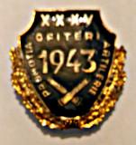 INSIGNA ARTILERIE OFITERI PROMOTIA 1943 JUBILEU 35 ANI ARMATA MApN