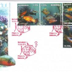 ROMANIA 2012, FDC, Fauna - Pesti, din album filatelic nr. 393