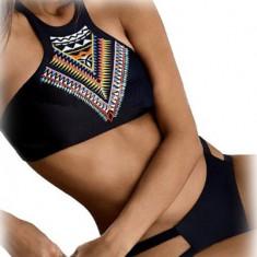 SW747-1 Costum de baie tankini cu print colorat, Marime: XL