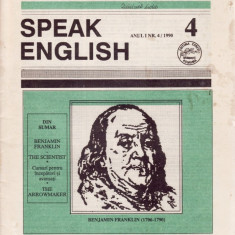 SPEAK ENGLISH NR 4/1990 - REVISTA PT INVATAREA LIMBII ENGLEZE - Revista scolara
