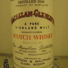 R A R E - whisky MACALLAN-glenlivet. single malt, 37 years, 1940 cl75 gr 43