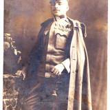 Fotografie tip C.P trimisa la Sebes WW.I. 1915 Sergent roman cu 5 decoratii - Fotografie veche