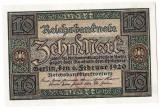 1.Germania bancnota 10 MARK MARCI 1920 perfect UNC