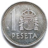 Spania Juan Carlos I (1975-1989) 1 Peseta 1982 , DIAMETRU 21mm., Europa, Aluminiu