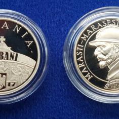 Moneda Colectie 50 Bani 2017 - Mărăști, Mărășești și Oituz - Tiraj Redus - Moneda Romania, Alama