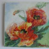 Maci-pictura ulei pe panza;MacedonLuiza - Pictor roman, Flori, Altul