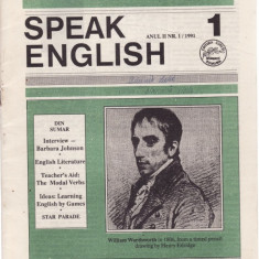 SPEAK ENGLISH NR 1/1991 - REVISTA PT INVATAREA LIMBII ENGLEZE - Revista scolara