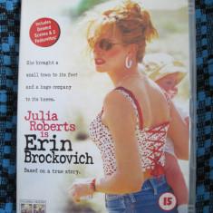 ERIN BROCKOVICH (1 DVD ORIGINAL, FILM cu JULIA ROBERTS - CA NOU!!!), Engleza