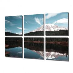 Tablou Multicanvas 6 Piese Creasta de munte - Tablou canvas