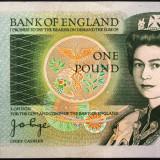 Bancnota 1 Pound *Lira Sterlina - ANGLIA (BEARER), anul 1978 *cod 513 a.UNC - bancnota europa