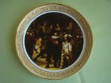 Superba Farfurie Portelan Pictata Manual - Rama Aurita