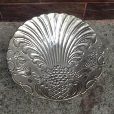 Veche fructiera argintata !!! - Metal/Fonta