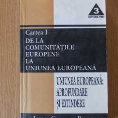 De la comunitatile europene la uniunea europeana- Iordan Gheorghe Barbulescu - Carte Drept international