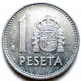Spania Juan Carlos I (1975-1989) 1 Peseta 1988 , DIAMETRU 21mm., Europa, Aluminiu