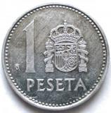 Spania Juan Carlos I (1975-1989) 1 Peseta 1986 , DIAMETRU 21mm., Europa, Aluminiu