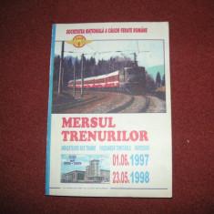 Mersul trenurilor 1997 - 1998