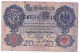 Germania bancnota RARA 20 MARK MARCI 1908
