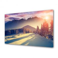 Tablou Canvas La munte iarna