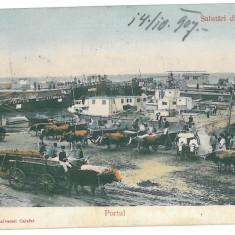 3838 - Dolj, CALAFAT, Harbor - old postcard - used - 1907 - Carte Postala Oltenia 1904-1918, Circulata, Printata