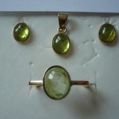 LICHIDEZ COLECTIE- SET DIN AUR CU PERIDOT - Set bijuterii aur
