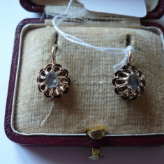 LICHIDEZ COLECTIE- CERCEI ANTIC CU DIAMANTE - Cercei cu diamante