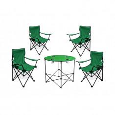 Set camping 4 scaune masa rotunda pescuit drumetii - Mobilier camping