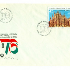 Romania - FDC nr lista 922 - Expozitia Mondiala Filatelie MILANO 1976, Europa, Aviatie