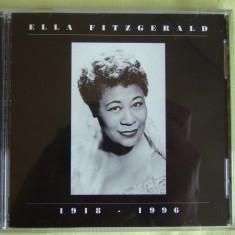ELLA FITZGERALD - 1918-1996 - C D Original ca NOU, CD