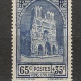 Franta.1938 Catedrala Reims XF.77, Nestampilat