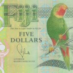Bancnota Fiji 5 Dolari (2013) - P115 UNC ( polimer )