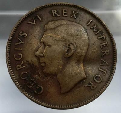 moneda 1 d one penny 1944 Africa de Sud corabie ambarcatiuni