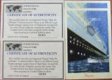 TAJIKISTAN - TITANIC, 2 X 1 S/SH, NEOBLIT. 1999 CU CERTIFICAT - WS 63