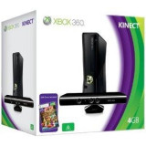 Consola Xbox 360 4GB cu Kinect Sensor si Kinect Adventures