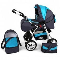 Carucior 2 In 1 Copii 0-36 Luni Kunert Vip Blue Baby - Carucior copii 2 in 1 MyKids