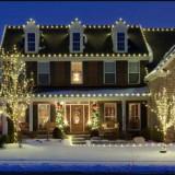 Ghirlande Ornamentale(40 m Lungime) Luminoase Exterior Craciun, 80 Leduri - Instalatie electrica Craciun