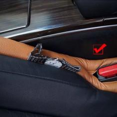 Suport auto din piele ce se amplaseaza intre scaunele masini - Ornamente interioare auto