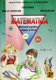 MATEMATICA. MANUAL PT CLASA A IV A de ION PETRICA ED. PETRION
